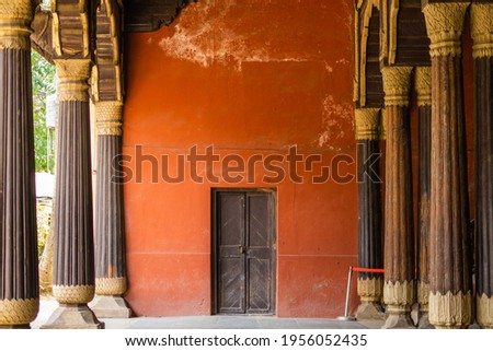 A room of Tipu Sultan's Summer Palace near K.R.Market, in Bangalore, India Photo stock ©