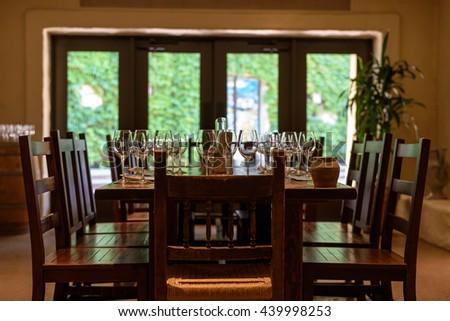 A Room Within The Robert Mondavi Vineyard In Napa Valley.