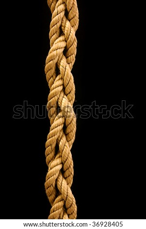a rope tied into a three stranded braid