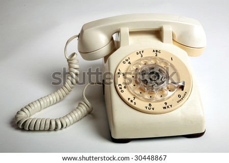 a rotary telephone from 1969