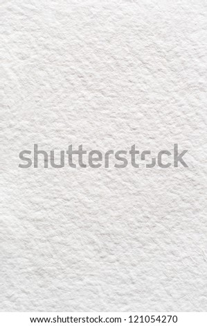 A rough texture background of absorbent white watercolour (watercolor) paper.