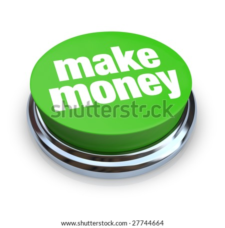 A round, green button on a white background reading Make Money