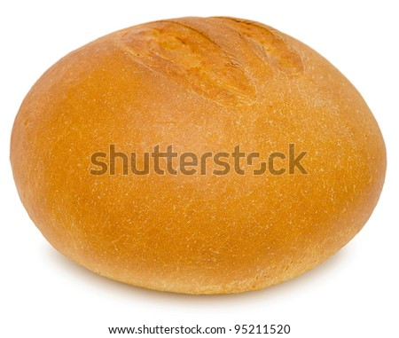 a round loaf of fresh wheat bread