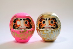 A round traditional Japanese doll