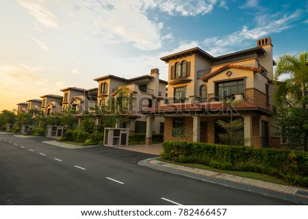 Photo of A row of bungalow house, Malaysia