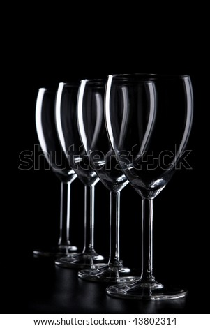 A row of elegant glasses