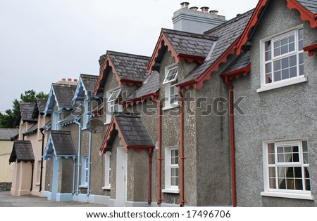 A row of Irish houses