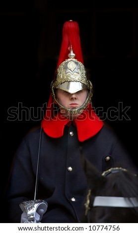 A royal guard on the horse in London