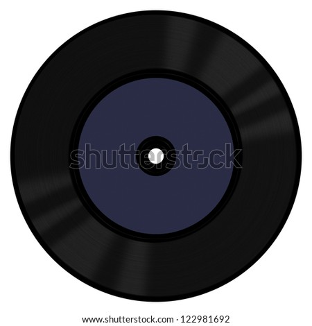 A 45 RPM vinyl record with a blank label