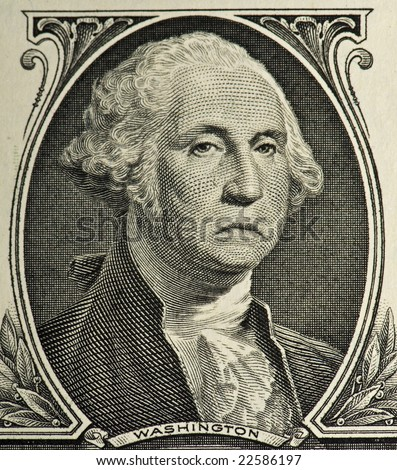 A sad George from a $1 bill