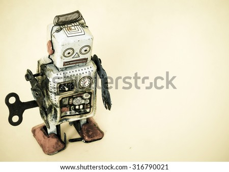 a sad robot toy