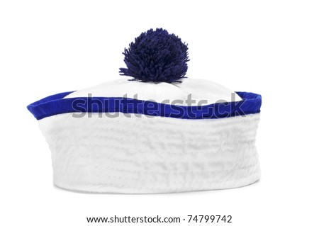 a sailor cap on a white background