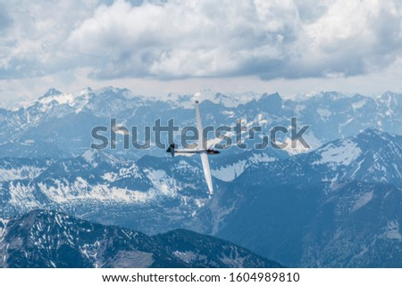 Photo of  A sailplane in the alps.