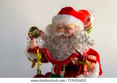 A Santa Claus figure on white background #719426602