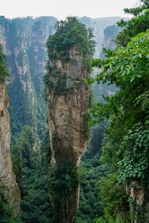 A Scene for shooting Avatar, Zhangjiajie National Park in China