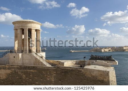 A scene from the Grand Harbour in Valletta, Malta.