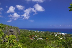 A scene of vast landscape shot from the top of the bluff in Cayman Brac