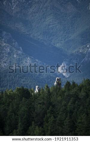 A scenic valley in Cadi-Moixero Natural Park, Spain Zdjęcia stock ©