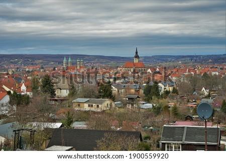 A scenic view at Naumburg, Burgenlandkreis, Germany. Stock fotó ©
