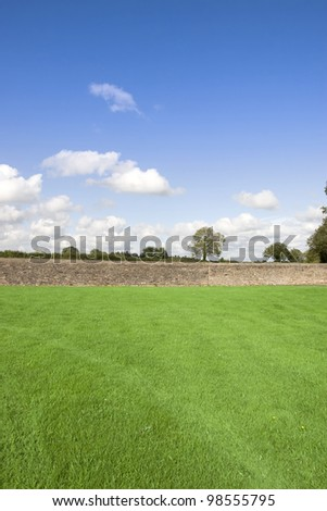 a scenic view of the green grass flields with stone walls in county tipperary ireland