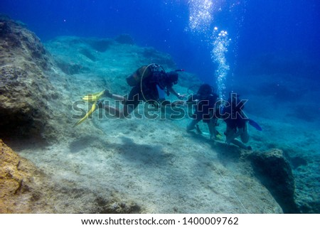 A scuba diving lesson with open water scuba Instructor #1400009762