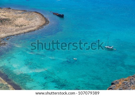 a sea background, greece island crete