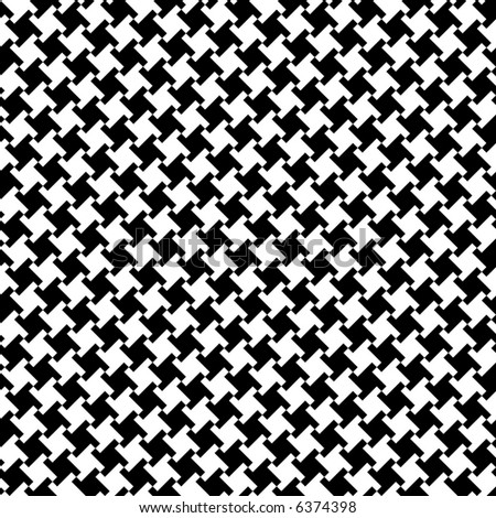 A seamless, repeating houndstooth pattern in black and white. Vector format also available.
