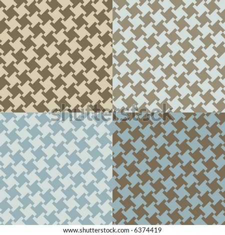 A seamless, repeating vector houndstooth pattern in current fashion colors.
