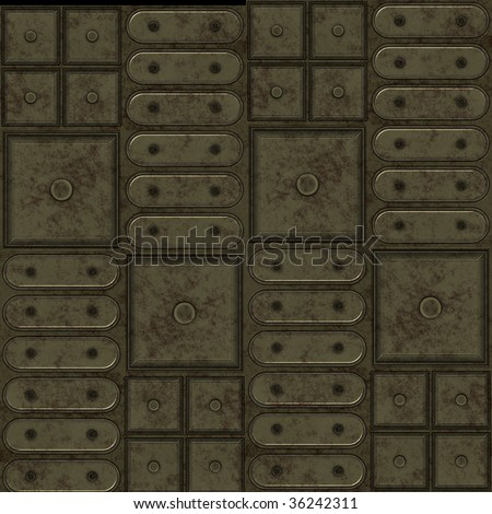A seamless tiling pattern made from the fronts of metal cabinets