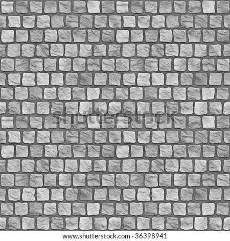 A seamless tiling texture. Illustration of cobblestones