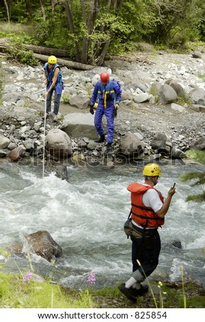 A search and rescue team on duty in the Rocky Mountains