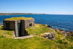 A Second World War Pill Box located on St. Michaels Mount in Cornwall, UK.