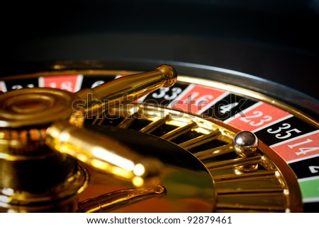 a section from a roulette table