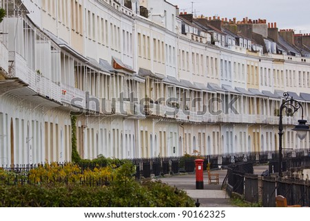 A section of Royal York Crescent in Clifton, Bristol UK, a Georgian terrace reputed to be the longest in Europe