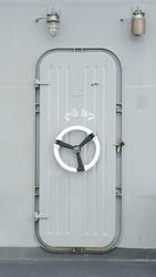 A Security Door on an Aircraft Carrier