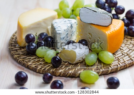 a selection of fine cheese