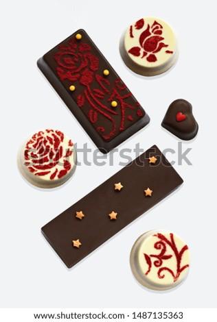 A selection of homemade chocolate bars