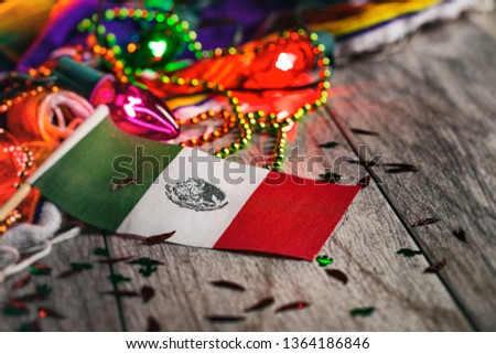 A series of background images for Cinco De Mayo fiesta celebrations.  Margaritas, tacos, serape, lights, and more.  Very festive. #1364186846