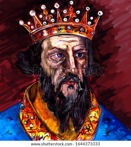 A series of kings of England. Henry I,  Bocklerc, is the fourth son of William the Conqueror, the first ruler of England from the Norman dynasty. King of England and Duke of Normandy.