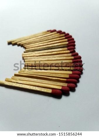 A Series Of Match Sticks