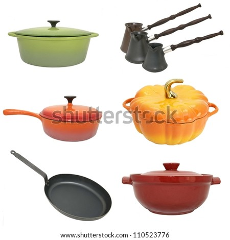 a series of photographs of kitchen utensils
