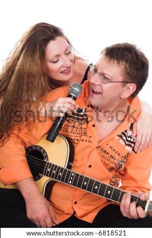 A series of photos about a musical duet