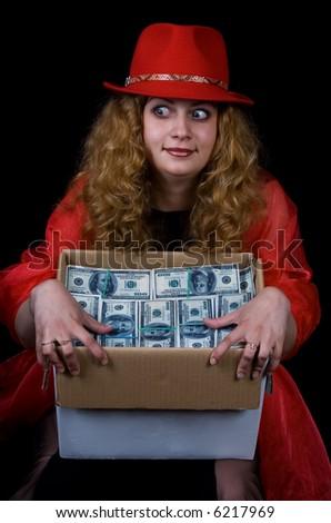 A series of photos ïîð the woman and money