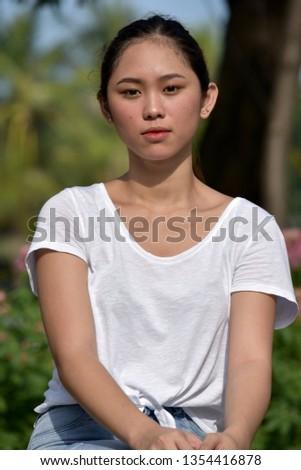 A Serious Filipina Female