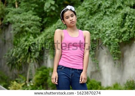A Serious Youthful Minority Girl
