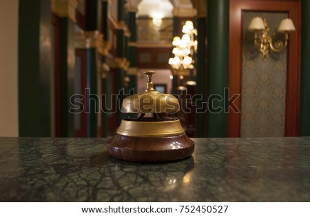 A service bell in a hotel.