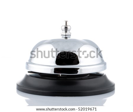 A service bell on a white background