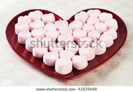 a serving of valentines day snacks