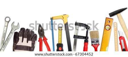 A Set of a lot of different tools and working materials