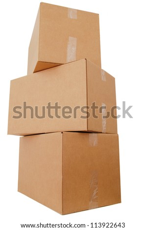 A set of carton box stacking